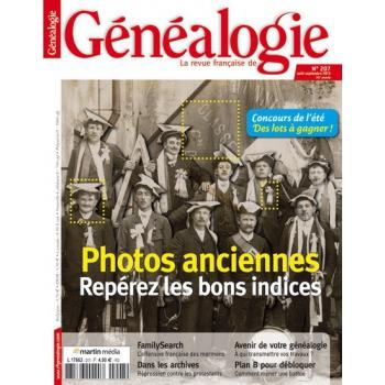 N°207 - Août Septembre 2013 - Revue Française de Généalogie