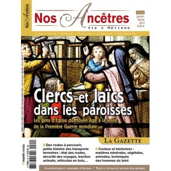 N° 65 : Clercs et laïcs dans les paroisses - Nos ancêtres, Vie & Métiers