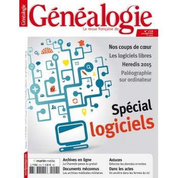 N°218 - Juin Juillet 2015 - Revue Française de Généalogie