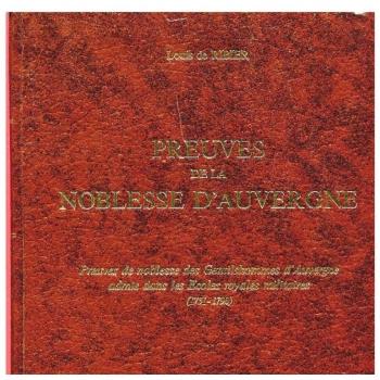 Preuves de la noblesse d'Auvergne (CD-Rom)