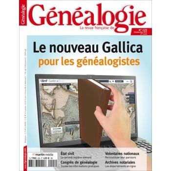 N°220 - Octobre Novembre 2015 - Revue Française de Généalogie