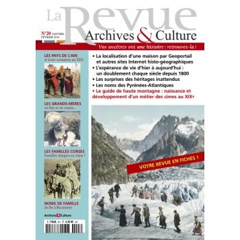 N°20 - Janvier Février 2016 - La Revue Archives & Culture