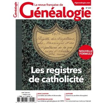 N°223 - Avril Mai 2016 - Revue française de Généalogie