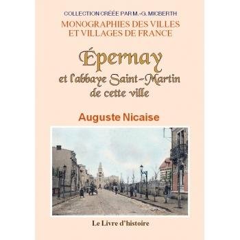 Epernay et l'abbaye Saint-Martin de cette ville