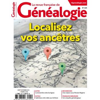 N°225 - Août Septembre 2016 - Revue française de Généalogie