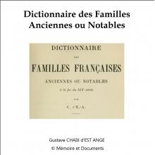 Dictionnaire des familles anciennes ou notables (CD-Rom)