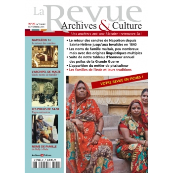 N°25 - Octobre Novembre 2016 - La Revue Archives & Culture