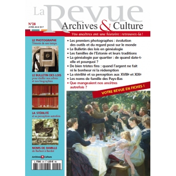 N°28 - Avril Mai 2017 - La Revue Archives & Culture