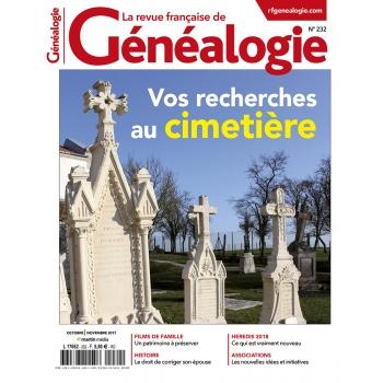 N°232 - Octobre Novembre 2017 - Revue française de Généalogie