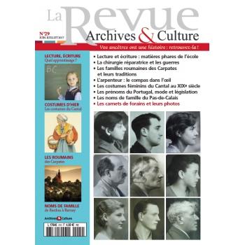 N°29 - Juin Juillet 2017 - La Revue Archives & Culture