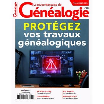 N°235 - Avril Mai 2018 - Revue française de Généalogie