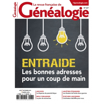N°237 - Août Septembre 2018 - Revue française de Généalogie