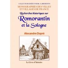 Recherches historiques sur Romorantin et la Sologne
