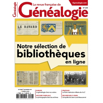 N°238 - Octobre Novembre 2018 - Revue française de Généalogie