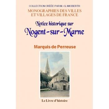 Notice historique sur Nogent-sur-Marne