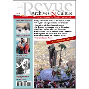 N°34 - La Revue Archives & Culture