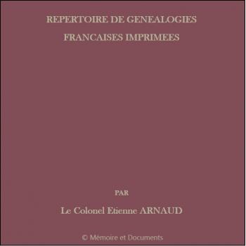 Répertoire de Généalogies françaises imprimées (CD-Rom)