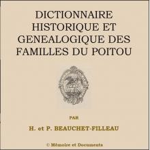 Dictionnaire historique et généalogique des familles du Poitou (CD-Rom)