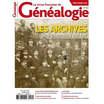 N° 242 - Juin Juillet 2019 - Revue française de Généalogie