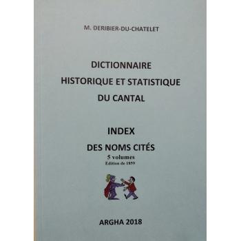 Index des noms cités dans l'ouvrage : Dictionnaire historique et statistique du Cantal