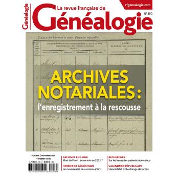 N° 250 - Septembre Octobre 2020 - La revue française de Généalogie