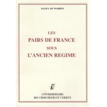 Les pairs de France de l'Ancien régime