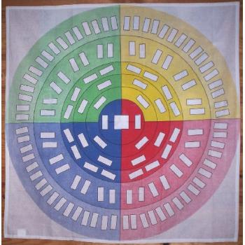 Roue d'ascendance 7 générations Textile - Support carré 1 mètre