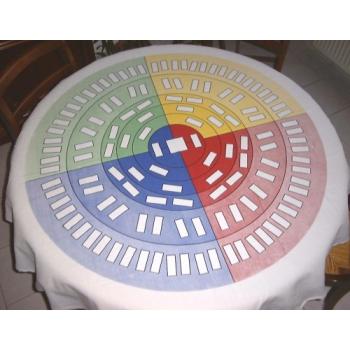 Roue d'ascendance 7 générations Textile - Nappe ronde 1,5 mètre