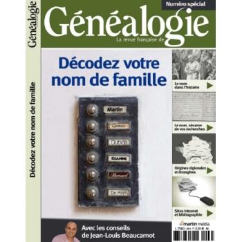 « Décodez votre nom de famille  » - Hors série de La RFG