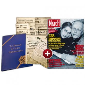 Le Journal de votre Anniversaire + un magazine hebdomadaire - Années 1953 à 2018