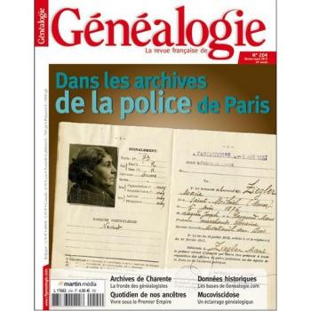 N°204 - Février Mars 2013 - Revue Française de Généalogie