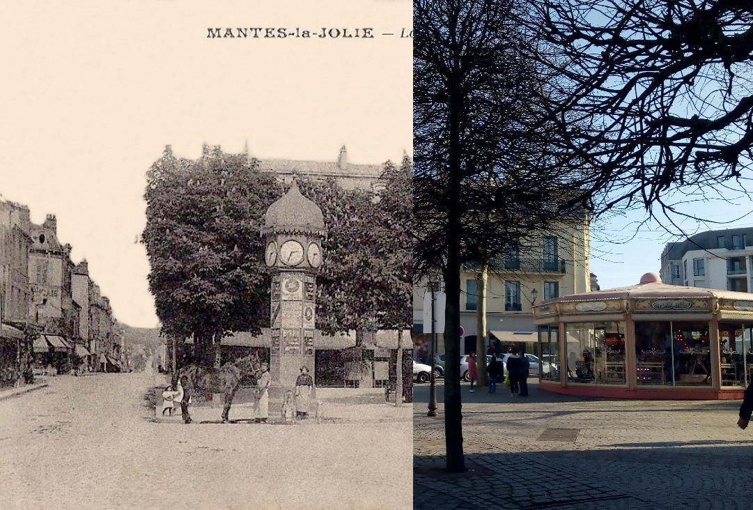 Mantes-la-Jolie - Place de la république.