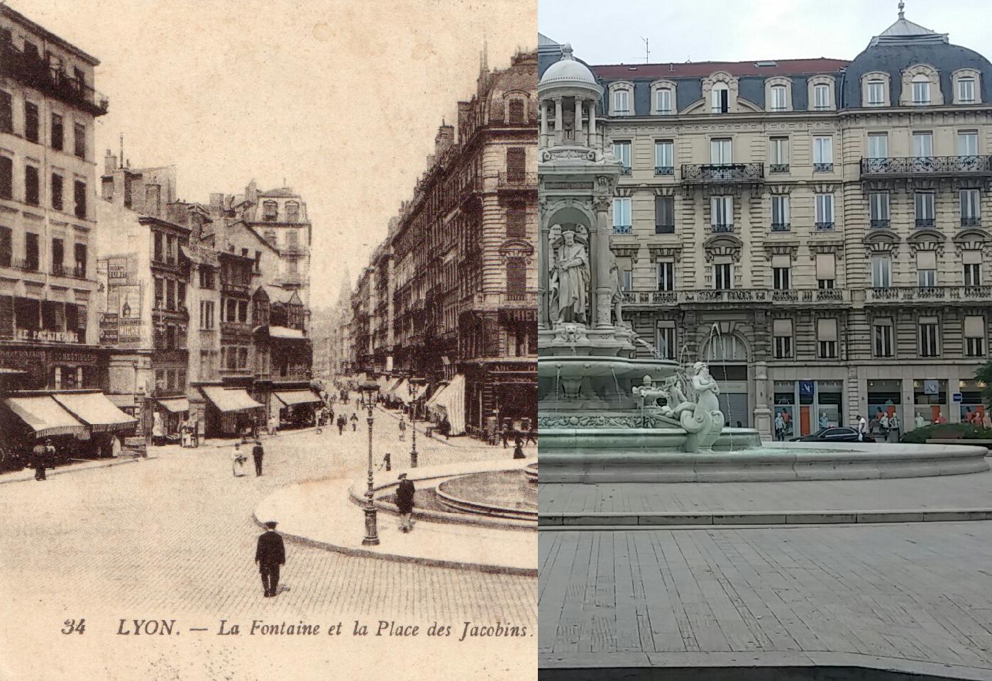 Lyon - LYON - La Fontaine et la Place des Jacobins