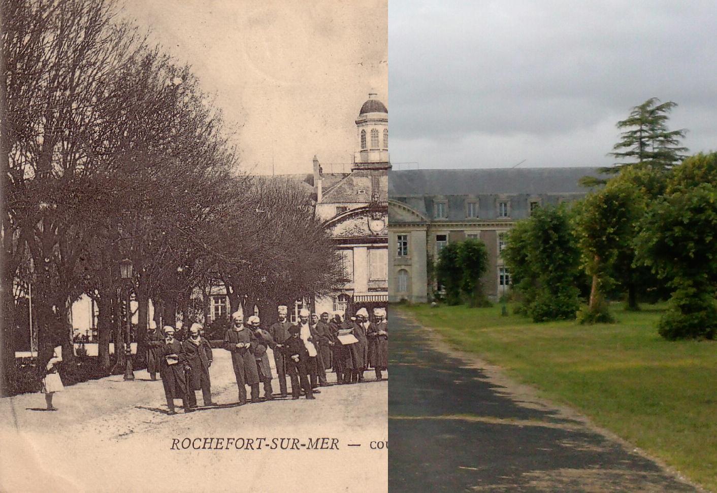 Rochefort - Cour de l'Hôpital de la Marine