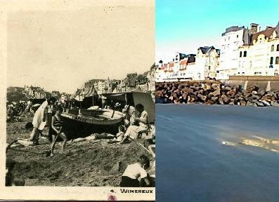 Wimereux - wimereux scenes de plage 4 editions fauchois bethune animée