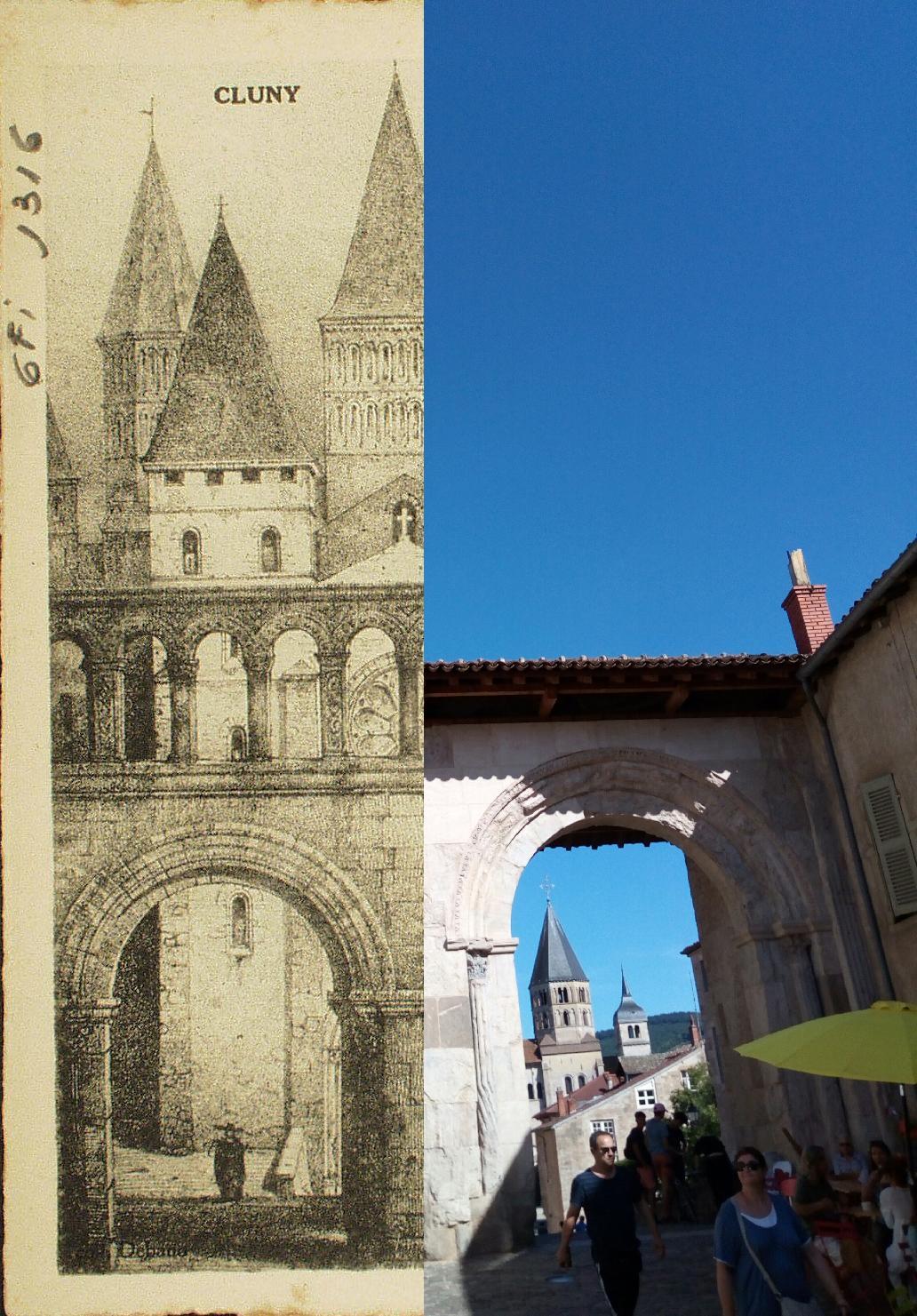 Cluny - Cluny. Entrée de l'abbaye au XIe s. (d'après Sagot).