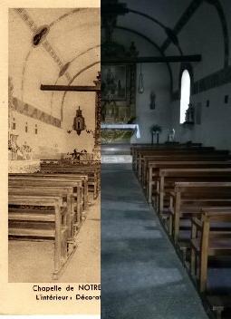 Yronde-et-Buron - Yronde-et-Buron - INSEE 63472 - Chapelle de Notre-Dame de BURON.Intérieur : décoration de L. Dussour.Canton de Vic-le-Comte.
