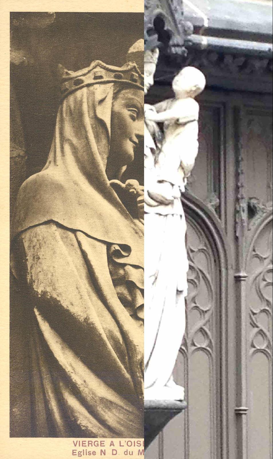 Riom - église du Marthuret- Vierge à l'Oiseau XIVès