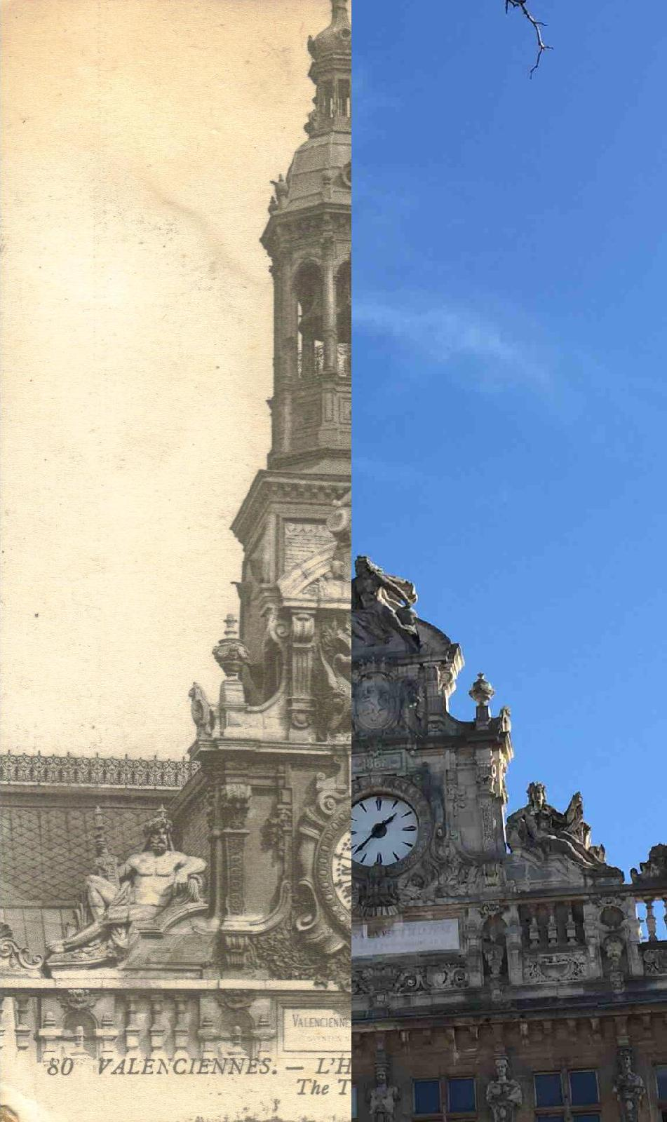 Valenciennes - Hôtel de ville_Fronton_1920