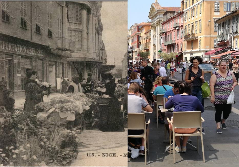 Nice - NICE Marché aux fleurs, rue St François de paul