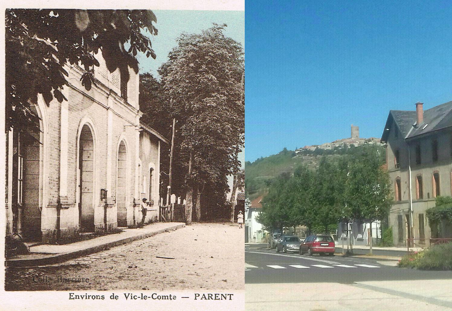 Parent - Parent - INSEE 63269 - Gare de Parent Coudes Champeix et les Hôtels - Environs de Vic-le-Comte.