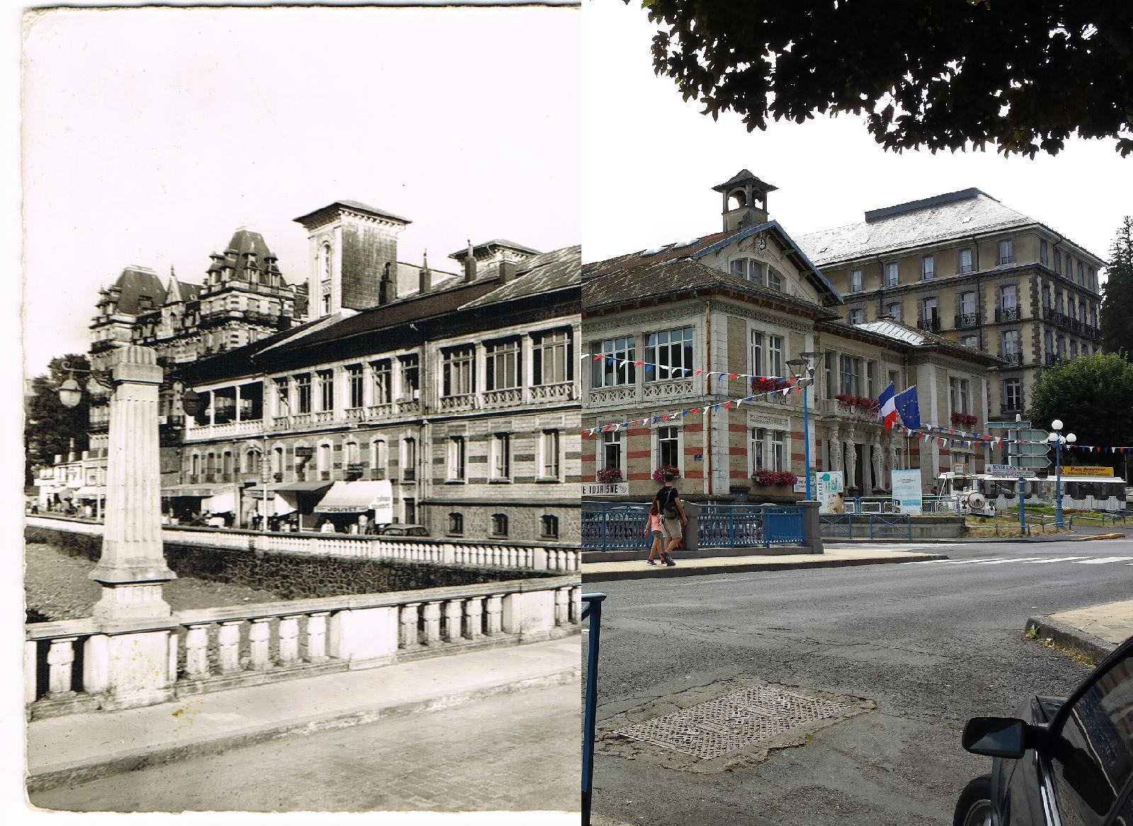 La Bourboule - la Bourboule - INSEE 63047 - l'Hôtel-de-Ville et le Pont.