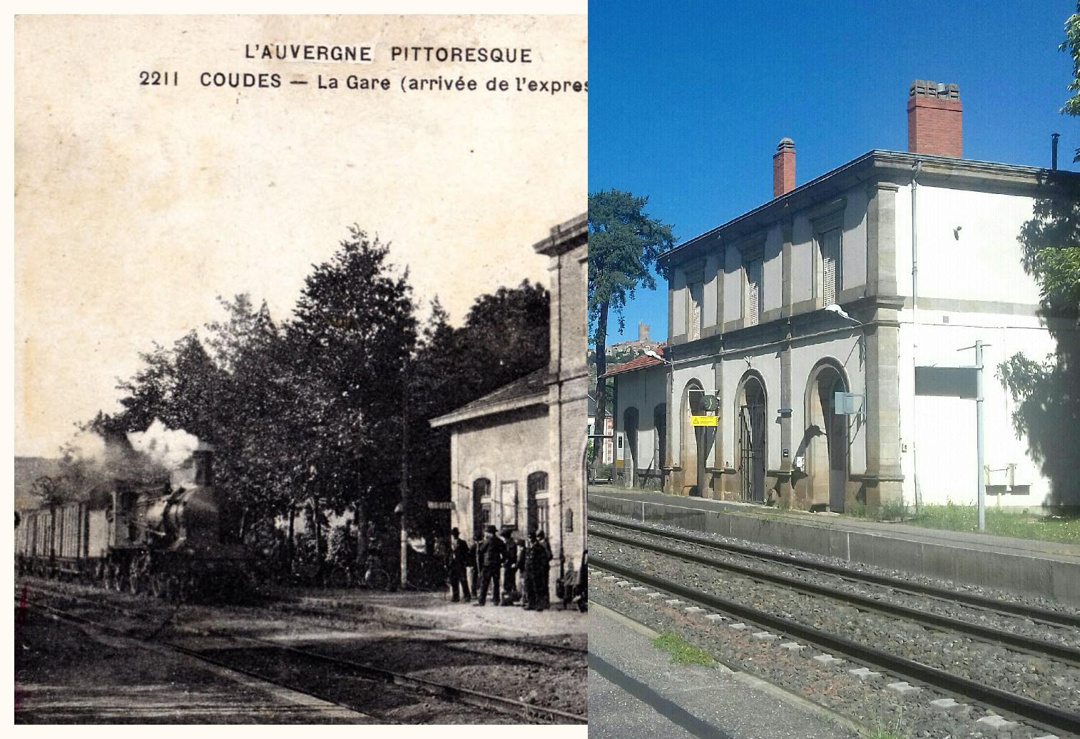 Coudes - Coudes INSEE 63121 - Gare de Parent Coudes Champeix -