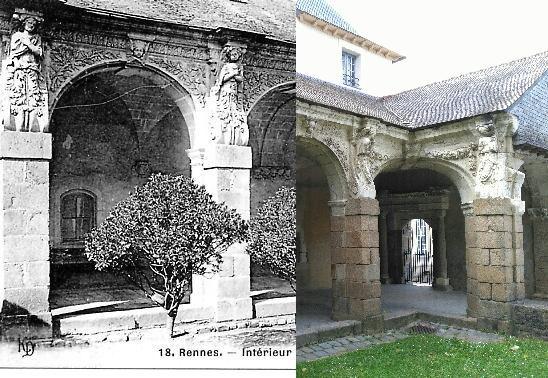Rennes - Intérieur Cloître Ste Mélaine