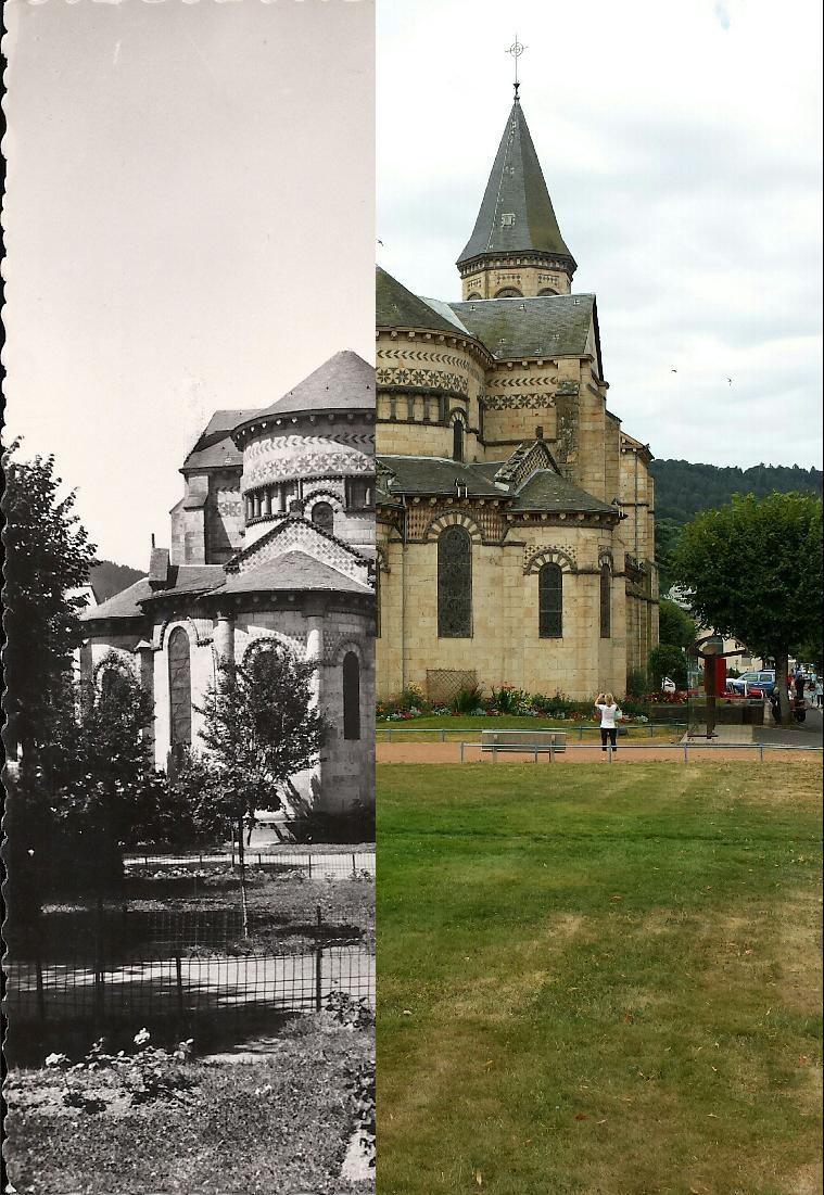La Bourboule - Chevet de l'église style roman-auvergnat.