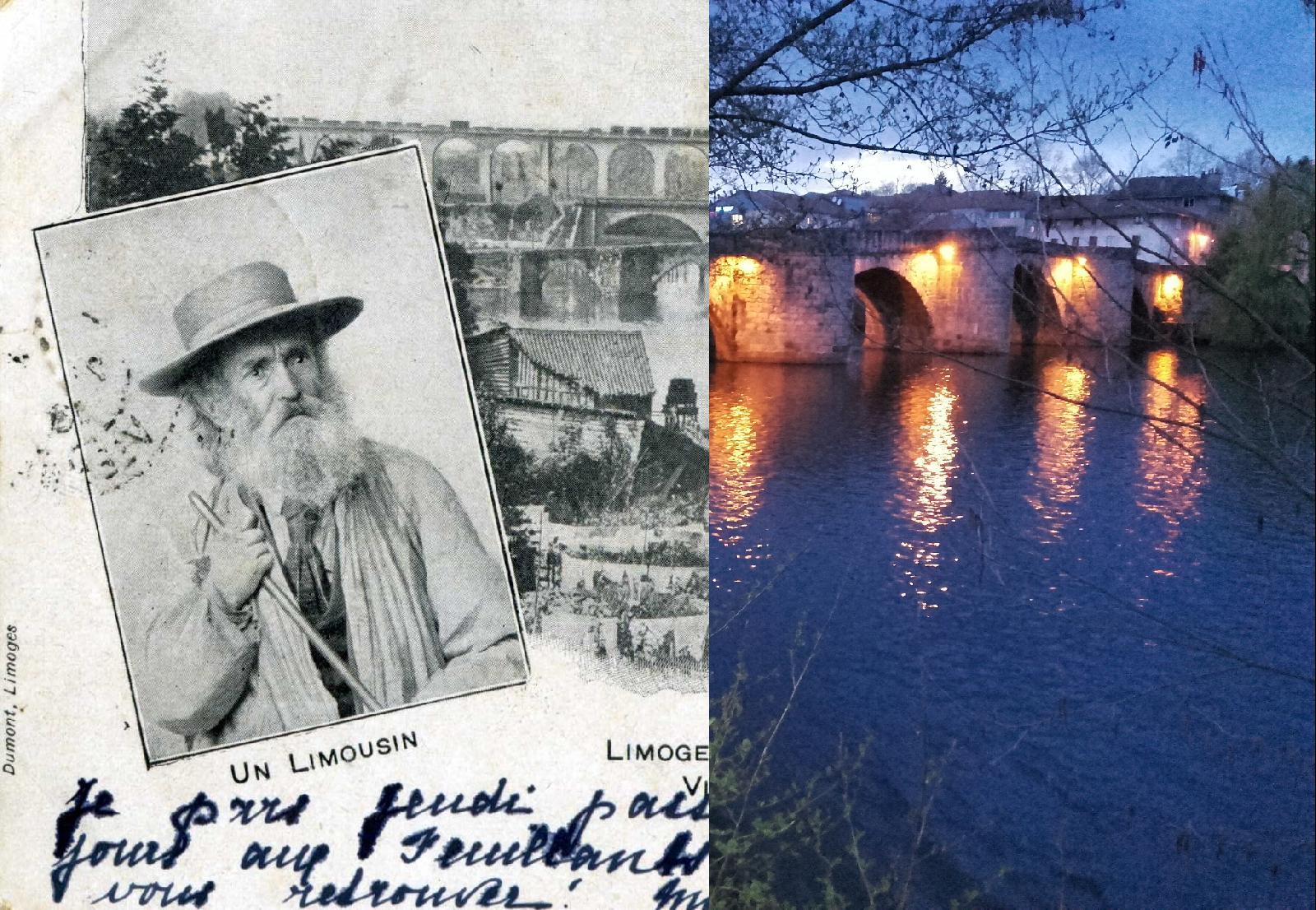 Limoges - Ponts Saint Martial : l'ancien et le nouveau. Le viaduc de la ligne Limoges / Brive