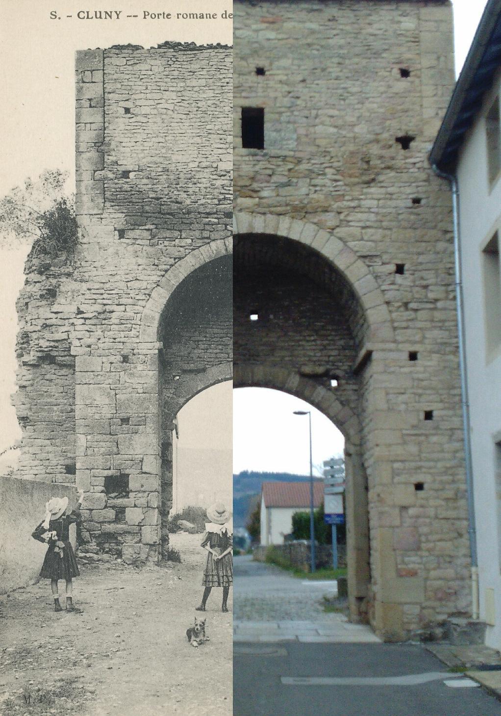 Cluny - Cluny. Porte romane de Saint-Mayeul (XIIe s.).