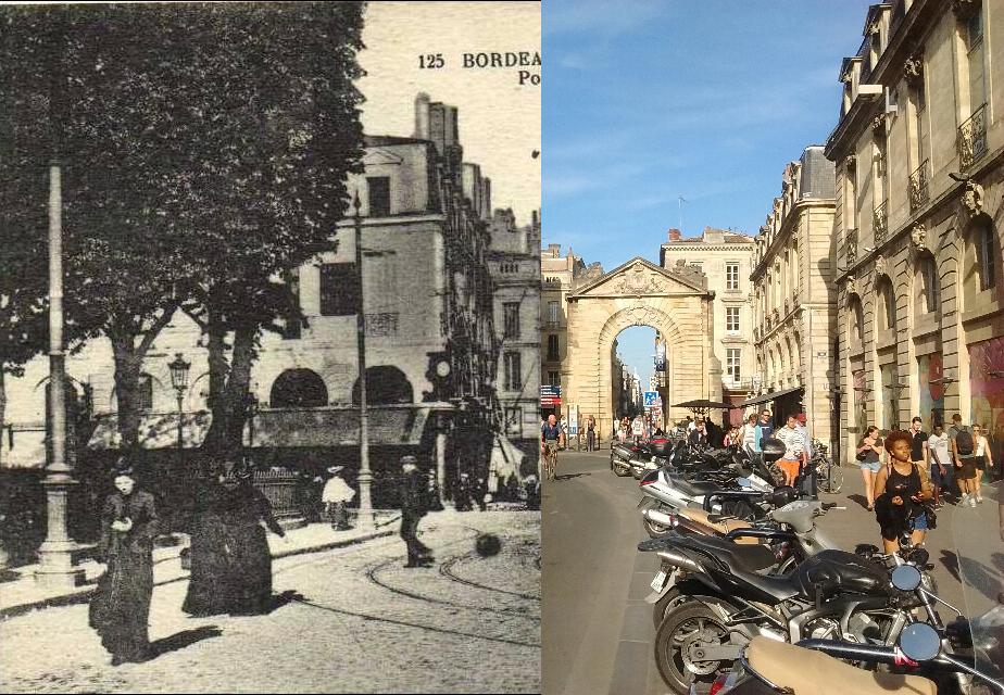 Bordeaux - BORDEAUX Place Gambetta Porte Dijeaux Recto Verso