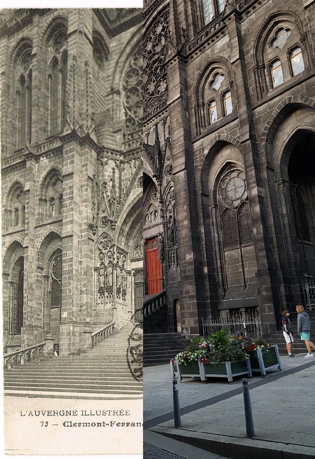 Clermont-Ferrand - Clermont-Ferrand - INSEE 63113 - la Cathédrale, le portail. L'Auvergne illustrée. Ref.73.