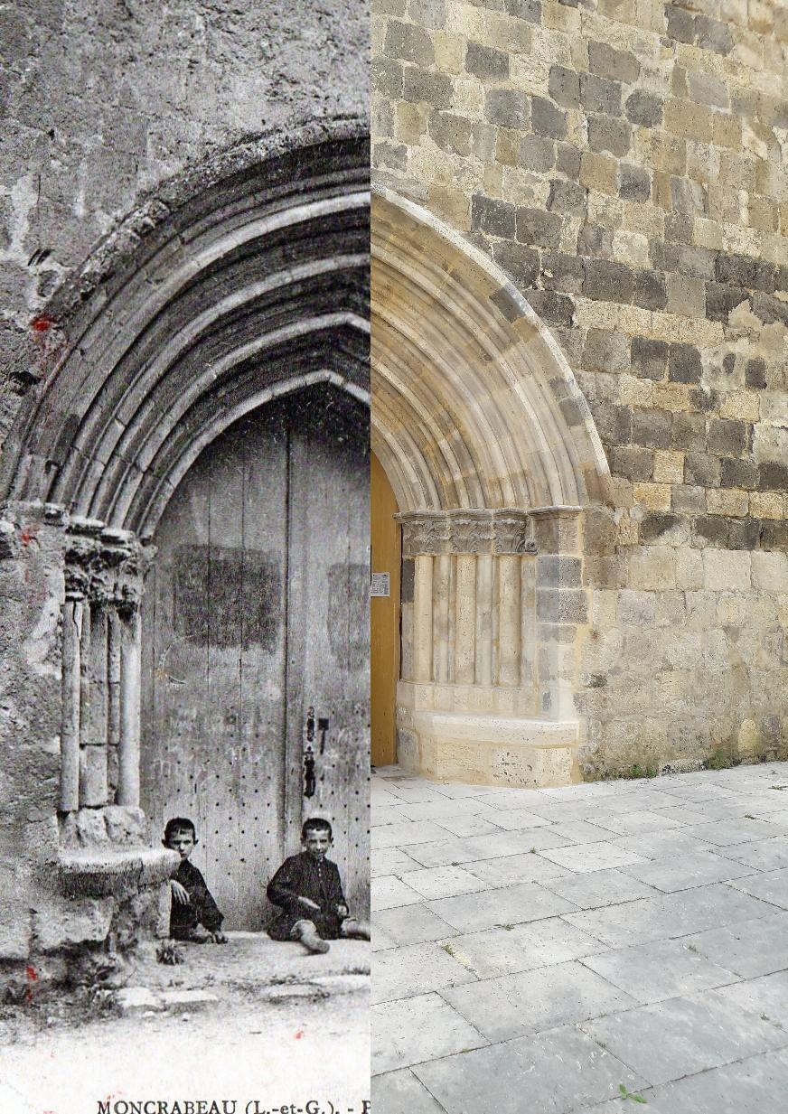 Moncrabeau - porte de l'église